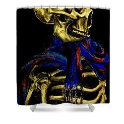 Skeleton Fashion Victim Shower Curtain by Tylir Wisdom