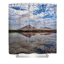 Shower Curtain featuring the photograph Skies Illusion by Tammy Espino