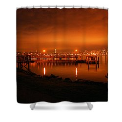 Skies On Fire Shower Curtain