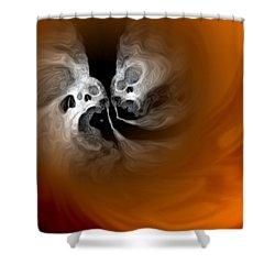 Skull Scope 4 Shower Curtain by Adam Vance