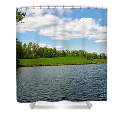 Shower Curtain featuring the photograph Sky And Water Almost Meet by Sherman Perry
