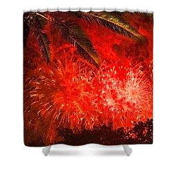 Sky Fire Shower Curtain by Debra and Dave Vanderlaan