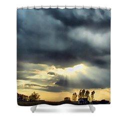 Sky In Turmoil Shower Curtain by Tom Schmidt