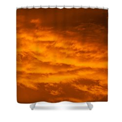 Sky Of Fire Shower Curtain by Colleen Coccia