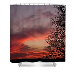 Sky On Fire Shower Curtain by Art Whitton