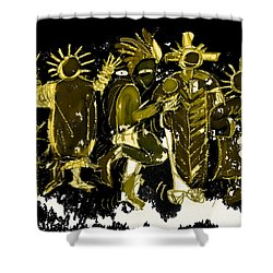 Sky People 5 Shower Curtain