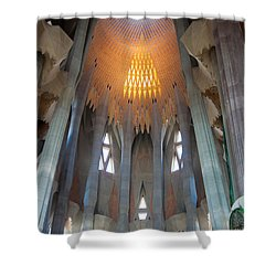 Skylight At Gaudi Cathedral Shower Curtain