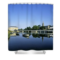 Skyline Over The River Garavogue, Sligo Shower Curtain by The Irish Image Collection