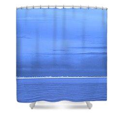 Shower Curtain featuring the photograph Skyline Salton Sea by Hugh Smith