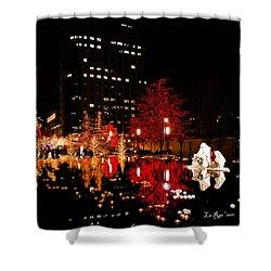 Slc Temple Nativity Pond Shower Curtain by La Rae  Roberts