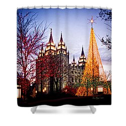 Slc Temple Tree Light Shower Curtain by La Rae  Roberts