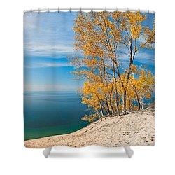 Sleeping Bear Dunes Vista 001 Shower Curtain