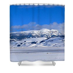 Shower Curtain featuring the photograph Sleeping Indian by Eric Tressler