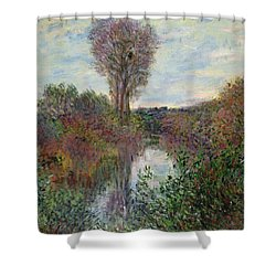 Small Branch Of The Seine Shower Curtain by Claude Monet