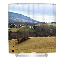 Small Town Shower Curtain by Kume Bryant