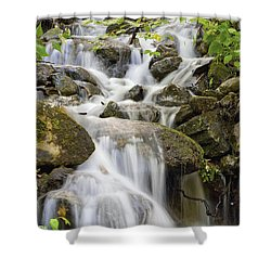 Small Waterfalls And Brook West Bolton Shower Curtain by David Chapman