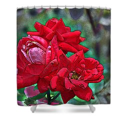 Smell The Roses Shower Curtain by Paul Mashburn