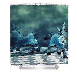Smile Shower Curtain by Jutta Maria Pusl