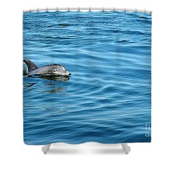 Smile Shower Curtain by Sami Martin