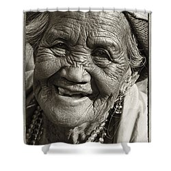 Smile Shower Curtain by Skip Nall