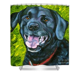 Smiling Lab Shower Curtain