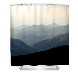 Smoky Mountain Overlook Great Smoky Mountains Shower Curtain by Rich Franco