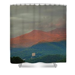 Smoky Mountain Way Shower Curtain by Frozen in Time Fine Art Photography