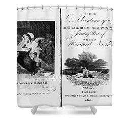 Smollett: Roderick Random Shower Curtain by Granger