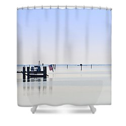 Smooth As Glass Shower Curtain by Bill Cannon