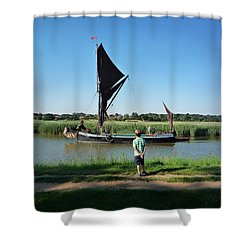 Snape Maltings Shower Curtain by Charles Stuart