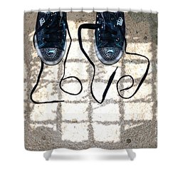 Sneaker Love 1 Shower Curtain by Paul Ward