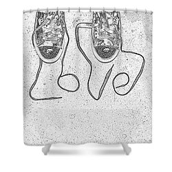 Sneaker Love 2 Shower Curtain by Paul Ward