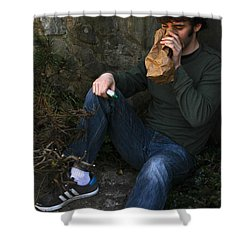 Sniffing Glue Shower Curtain by Photo Researchers, Inc.