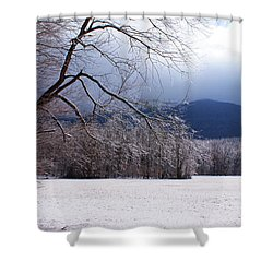 Shower Curtain featuring the photograph Snow And Ice by Paul Mashburn