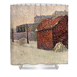 Snow Butte Montmartre Shower Curtain by Paul Signac