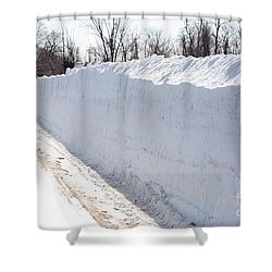 Snow By The Roadside Shower Curtain by Ted Kinsman