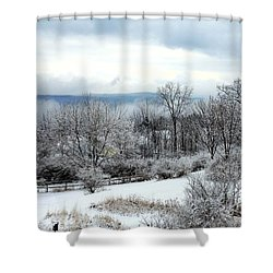 Snow In Winter Ithaca New York Shower Curtain by Paul Ge