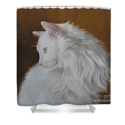 Shower Curtain featuring the painting Snowball by Jindra Noewi