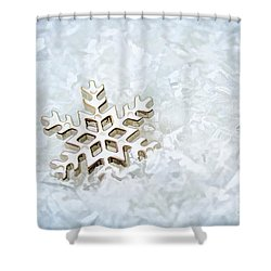 Snowflake Shower Curtain by Darren Fisher
