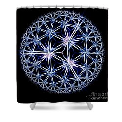 Snowflakes Shower Curtain by Danuta Bennett