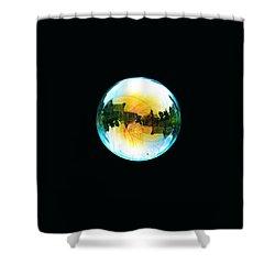 Soap Bubble Shower Curtain by Sumit Mehndiratta