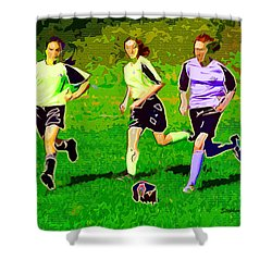 Soccer Shower Curtain by Stephen Younts