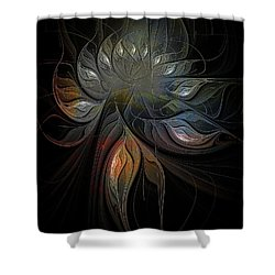 Soft Metals Shower Curtain by Amanda Moore