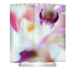 Soft Seduction. Orchids Shower Curtain by Jenny Rainbow