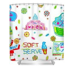 Soft Serve Shower Curtain by Beth Saffer