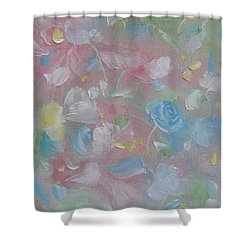 Shower Curtain featuring the painting Softly Spoken by Judith Rhue