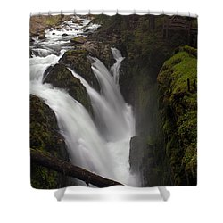 Sol Duc Falls Shower Curtain by Mike Reid
