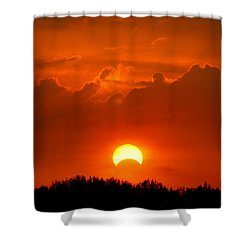 Solar Eclipse Shower Curtain by Bill Pevlor