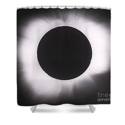 Solar Eclipse With Outer Corona Shower Curtain by Science Source