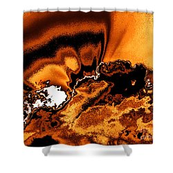 Solar Flare Shower Curtain by Rebecca Margraf